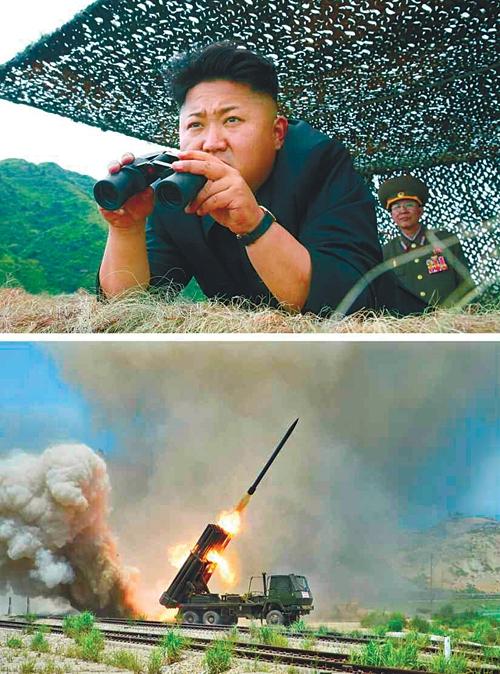 김정은 포사격 지휘