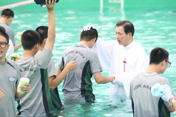 순복음춘천교회 진중세례식 논산훈련소