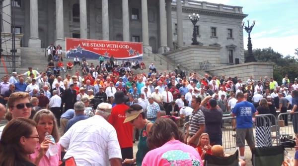 사우스캐롤라이나주에서 열린 동성결혼 낙태 반대 집회 (포토 : 출처 = 크리스천포스트)