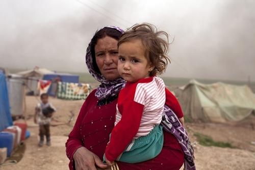 올해 초 촬영된 사진으로 이라크 북부 지역 내 시리아 난민들의 모습 (포토 : 출처 = Christian Aid)
