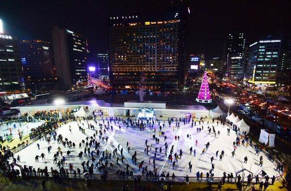 서울 여의도 스케이트장
