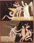 성서화, 짐승의 결박과 방면