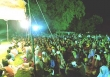 인도 북부에서 열리고 있는 복음전도 행사. 많은 힌두교인들이 이 집회를 통해 예수께로 돌아오고 있다.