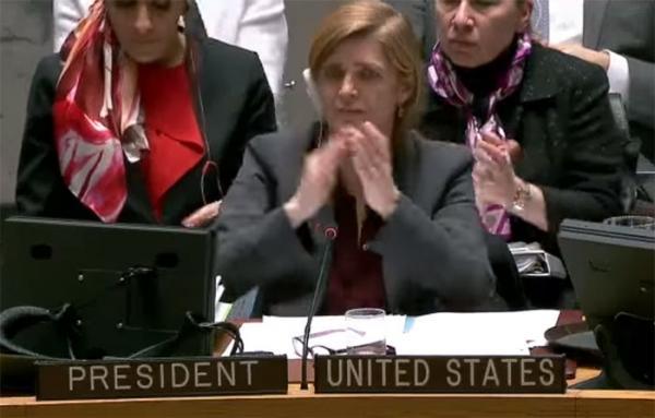 유엔 안보리 의장 미국 사만다 파워 유엔주재 대사