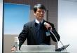구견회 캄보디아 라이프대학 총장이 이날 첫번째 주제강연을 하고 있다.  사진=이지희 기자
