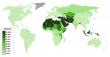 세계 이슬람 무슬림 인구비율