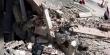 파괴된 예멘 대통령궁 인근 지역.