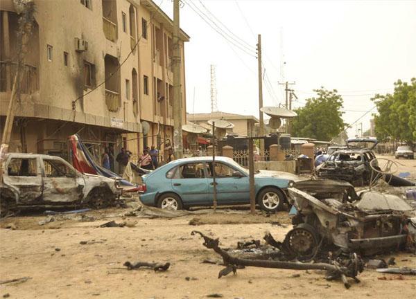 나이지리아에서 발생한 차량테러 현장.  ⓒ 오픈도어선교회