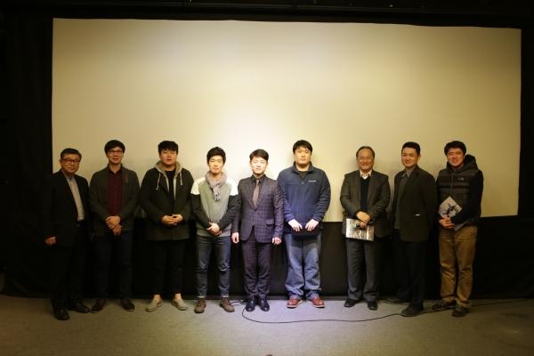 제1회 한국기독교단편영화제 수상자들 모습.
