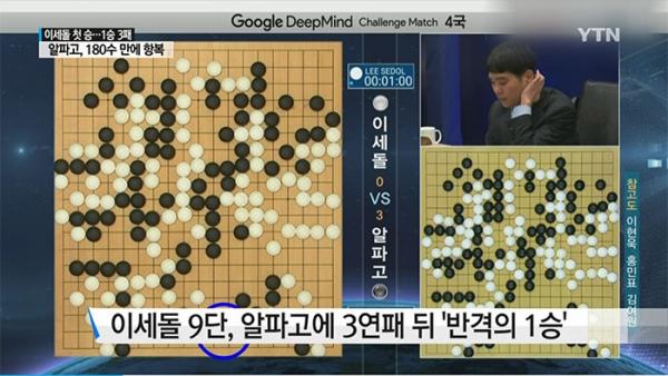 '구글 딥마인드 챌린지 매치' 5번기 제4국