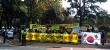 5일 제주도청 앞에서 바른나라세우기국민운동 外 16개 시민단체들이 모여 제주지역 친이슬람 시장 활성화 정책에 반대의사를 표명하고 있다. ⓒ 바른나라세우기국민운동