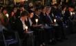 25일 저녁 서울역 광장에서 열린 '북한자유주간 서울통일광장기도회'에 참석한 이들의 모습.