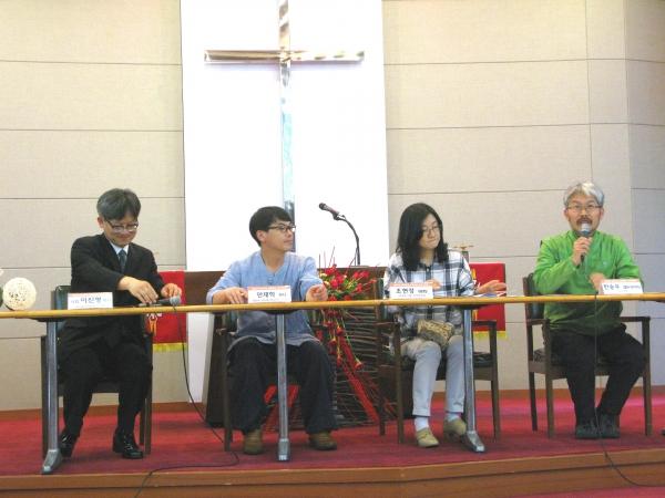 17일 낮 중앙루터교회에서는 '2016년 환경주일 연합예배'가 열렸다. 예배 전에는 GMO반대를 위한 이야기 마당의 시간이 열렸다.