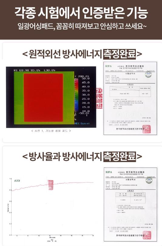 일광어싱패드 각종측정