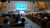 예장개혁 개신측 제101회 총회가 열리고 있는 종암중앙교회당 내부의 모습.