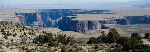 Little Colorado River Gorge -그랜드캐년의 지류에 해당하는 협곡. 평탄한 지면 아래로 수직 절벽의 깊은 계곡이 있으며, 그 밑에는 아주 적은 양의 물이 흐르거나, 물이 전혀 없는 곳도 있다. 그랜드캐년은 이처럼 매우 독특한 특징을 가지고 있는 계곡이다. 평탄한 지역에서 빗물과 천천히 흐르는 작은 하천의 침식만으로는 이런 형태의 계곡이 결코 만들어질 수 없고, 대홍수라야 가능하다.