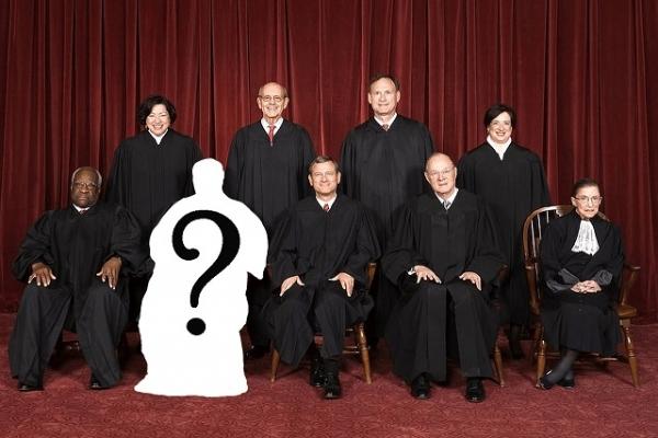 현존 미국 연방대법관 8명. 현재 스칼리아 대법관 사망으로 한 자리가 공석이다