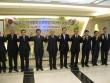 한국통일선교연합에 참여하는 한국교회 지도자들이 손을 맞잡고 화이팅을 외치고 있다.