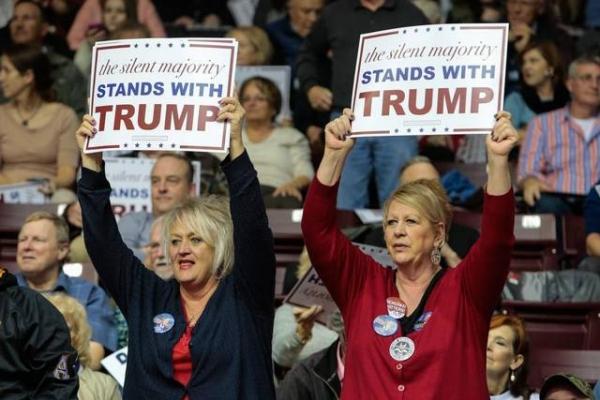 트럼프 지지자들.