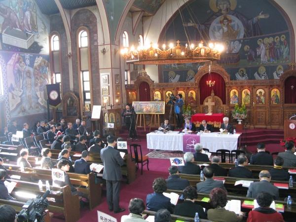 NCCK의 제65회 정기총회가 지난 28일 한국정교회 성 니콜라스 주교좌 대성당에서 열렸다.