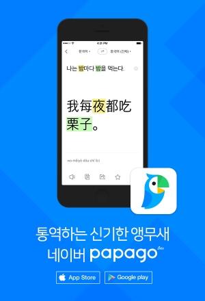 네이버의 모바일 통역앱 '파파고'