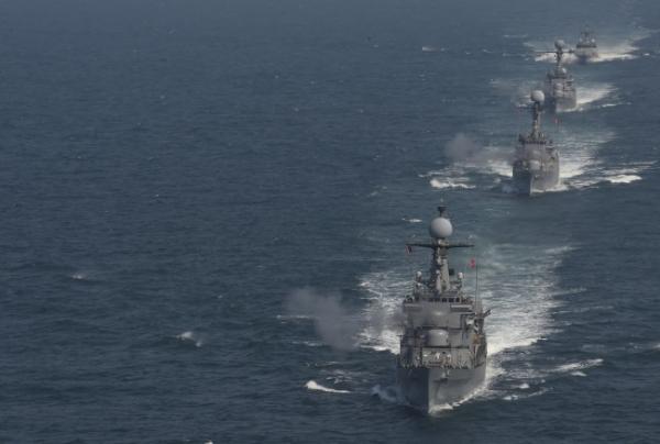 한미 해상 연합훈련 장면