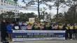 """9일 낮 서울시교육청 앞에서는 차세대바로세우기학부모연합 등 시민사회단체들이 """"바르고 건전한 교사들을 탄압하는 동성애 옹호·조장 '서울시학생인권조례' 즉각 폐기하라!""""며 기자회견을 열고 성명서를 발표했다."""