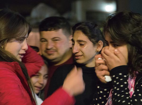 울고 있는 이라크 기독교인들