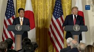 미일 정상회담 후 기자회견