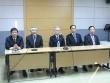 2017 한국교회 부활절 연합예배 준비위가 15일 오전 한국교회100주년기념관에서 기자회견을 열고 준비상황을 공개했다. 가운데가 대표대회장인 이성희 예장통합 총회장.