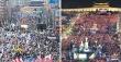 태극기 찬반 집회, 태극기 촛불 집회 / JTBC