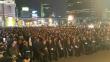 한국교회 성도들이 과거 서울역 앞에서 열린 미스바 기도회에서 나라와 민족을 위해 간절하게 기도하던 모습.