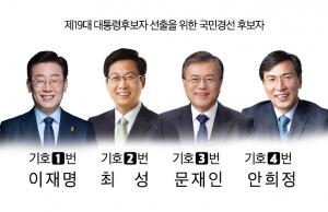 더불어민주당 대선 경선 후보자 4인