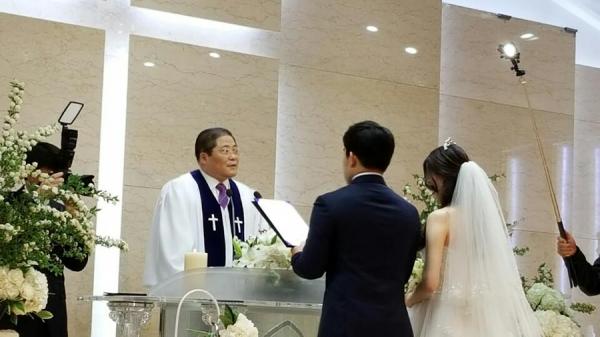 주례사를 전하는 소강석 목사