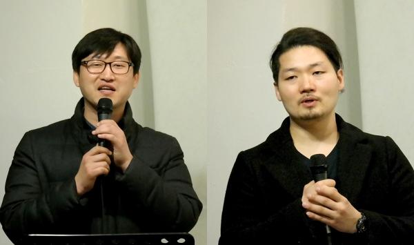 사회를 맡은 은희승 대표와 이승호 조명감독
