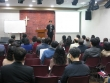 오픈도어 북한선교학교 첫 날 송원근 목사가 '주체사상과 기독교'를 주제로 강연을 전하고 있다.