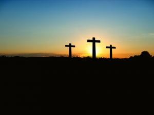 십자가 부활 여명