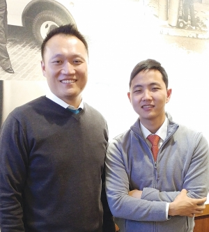 Yoon Lee (left) and Samuel Han (right) serve at Yoido Full Gospel Church's English ministry. Lee began serving as the lead pastor of YEM in 2012. Han serves as a staff pastor in YEM.