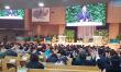 세계성령중앙협의회 대표회장 이수형 목사가 새에덴교회에서 설교하고 있다.