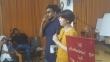 폴리 현숙 박사가 스리랑카 여성들에게 강연을 전하고 있다.