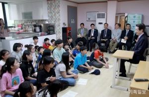 한장총 탈북민 편부모 자녀를 위한 대안학교 방문
