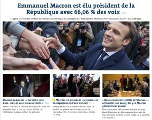 프랑스 새 대통령에 당선된 에마뉘엘 마크롱
