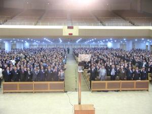 제66회 예하성 정기총회에서 총대들이 한 자리에 모였다.
