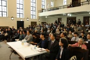 허혁 교수 20주기 추모예배에 참석한 관계자들.