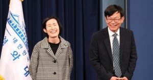 김상조 교수 피우진 예비역 중령 / 연합뉴스