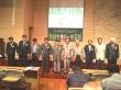 """한국복음주의협의회가 """"남북의 화해와 대북 인도적 지원 어떻게 할 것인가""""란 주제로 6월 월례 조찬기도회 및 발표회를 개최한 가운데, 참석한 교회 지도자들이 함께 기도하고 있다."""