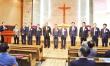 한국성결교회연합회 제8회 정기총회를 통해 선출된 새 임원들이 인사를 하고 있다.