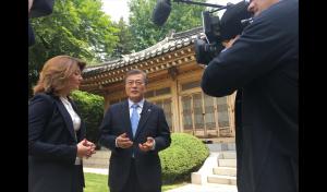문재인 대통령 미국CBS 인터뷰