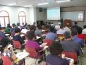 22일 낮 여전도회관에서 제101회기 평신도지도위원회 워크숍이 열린 가운데, 전 호남신대 총장 노영상 교수가 강연을 전하고 있다.