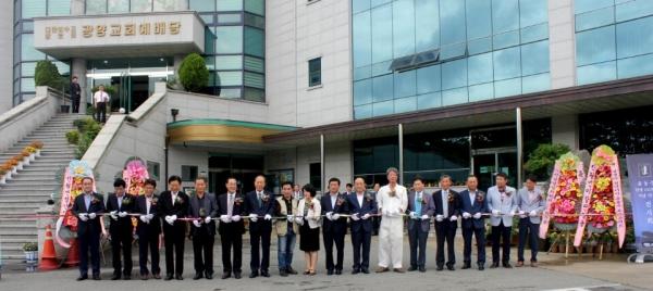 지난 2일 전남 광양시 광양교회 대예배실에서 '윤동주 탄생 100주년 기념 토크콘서트'가 열렸다.